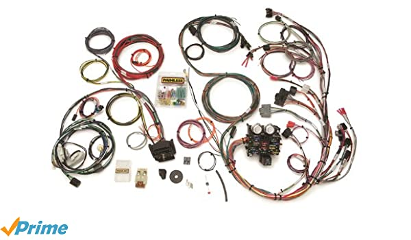 Painless 10111 Direct Fit Jeep YJ Harness (1987-1991, 23 Circuits) on jeep tail light wiring harness, geo tracker wiring harness, jeep wrangler wiring connector, chevy aveo wiring harness, jeep grand wagoneer wiring harness, 2001 jeep wiring harness, chrysler pacifica wiring harness, pontiac bonneville wiring harness, amc amx wiring harness, honda cr-v wiring harness, hummer h2 wiring harness, chevy cobalt wiring harness, jeep transmission wiring harness, jeep wrangler wiring sleeve, dodge dakota wiring harness, 2004 jeep wiring harness, jeep patriot wiring harness, jeep wrangler trailer wiring, mazda rx7 wiring harness, jeep wiring harness diagram,