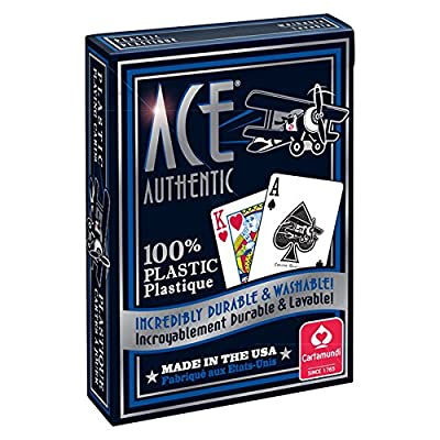 Cartamundi 1060 Ace 100% Plastic Playing Cards Assorted Colors: Toys & Games