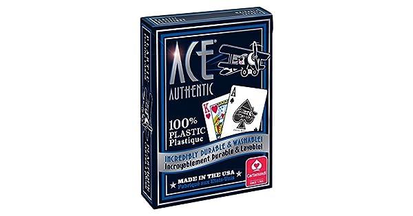 Amazon.com: Cartamundi 1060 Ace 100% plástico Juego de ...