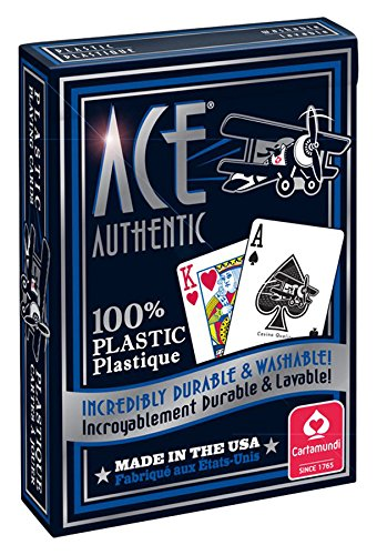Cartamundi 1060 Ace 100% Plastic Playing Cards Assorted - Card Aces