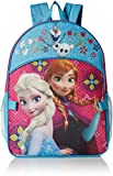 Disney Girls' Frozen Elsa and Anna Backpack with Detachable Lunch Bag, Hot Pink/Blue