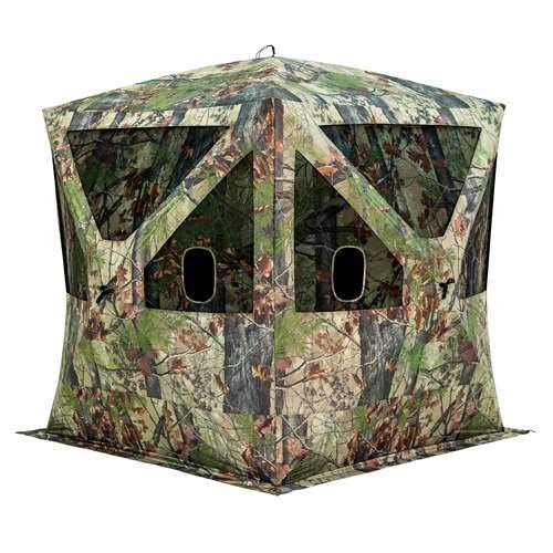 Barronett Big Cat Ground Hunting Blind, 3 Person Pop Up Portable, Backwoods Camo