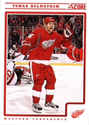 (2012/13 Score NHL Hockey Card # 188 Tomas Holmstrom Detroit Red Wings)