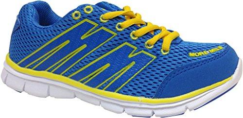 More Mile Oslo Kinder Training Schuhe, Blau/Gelb Blau/Gelb - blau / gelb