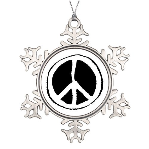 ances Lincoln Ideas for Decorating Christmas Trees Peace Sign Sports Snowflake Ornaments Tree Decor -