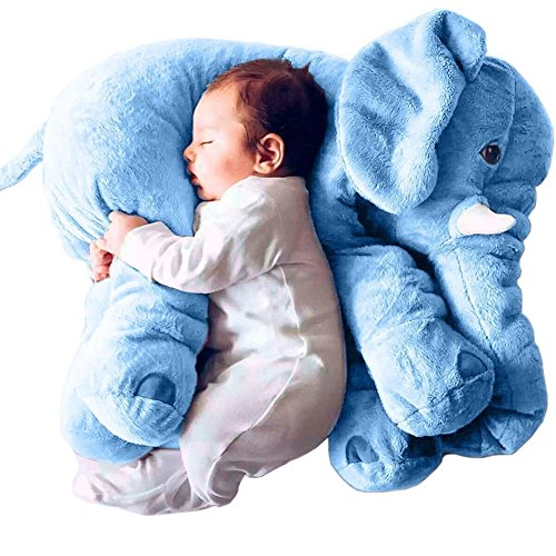 Primey Super Soft Cute Big Stuffed Elephant Plush Doll Pillows, Baby Elephants Toys (Blue) (Singing Shark compare prices)