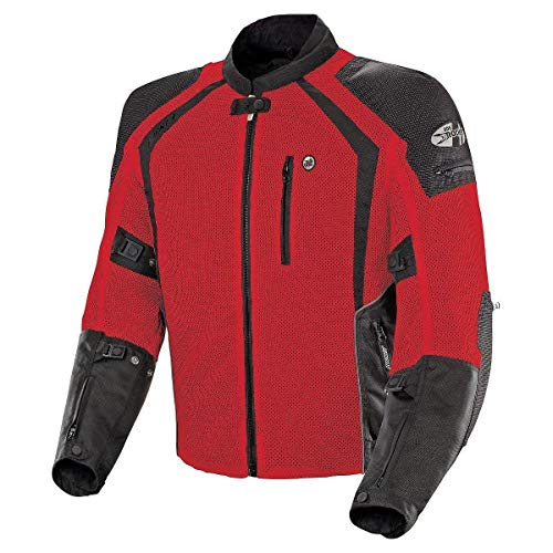(Joe Rocket 1516-4104 Phoenix Ion Men's Mesh Motorcycle Jacket (Red, Large))