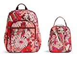 Vera Bradley Campus Back Pack, Book Bag with Matching Lunch Bunch in Bohemian Blooms