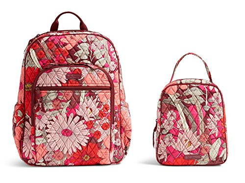 Vera Bradley Campus Back Pack, Book Bag with Matching Lunch Bunch in Bohemian Blooms by VB