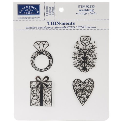 KAREN FOSTER Wedding Design Thin-ments Metal Scrapbooking Embellishment ()