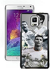 Cristiano Ronaldo Black Samsung Galaxy Note 4 Screen Cover Case Fantasy and Luxurious Skin