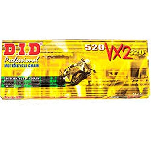 DID 大同工業 チェーン 520VX2 ゴールド/黒 104L 軽圧入クリップ 122721   B01MTMQNRT