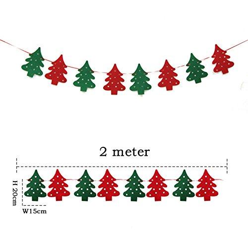 Sinceクリスマスパーティーホオジロフェルト生地Merry Xmasバナー装飾with 8ペンダント Since  Christmas Trees B01N6GCCAJ
