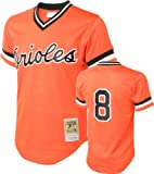Cal Ripken Orange Baltimore Orioles Authentic Mesh Batting Practice Jersey