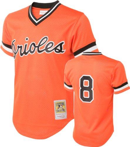 Cal Ripken Orange Baltimore Orioles Authentic Mesh Batting Practice Jersey Small (36)