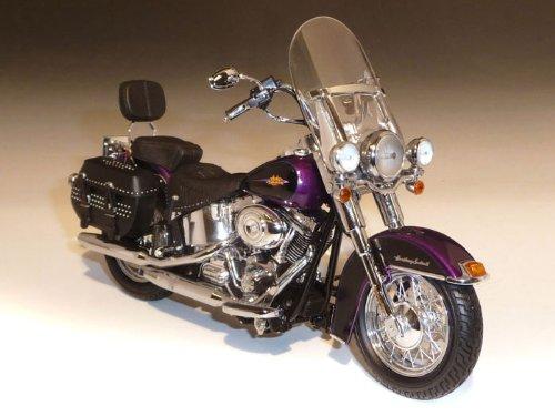 ダイキャスト バイク 2011 ハーレーダビッドソン FLSTC Hertiage Softail Deluxe 紫 1/12