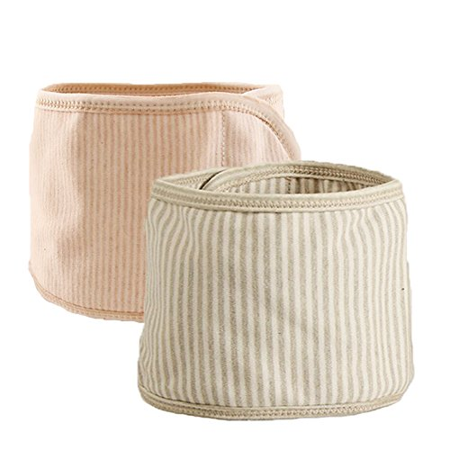 Fairy Baby Organic Cotton Baby Belly Button Band Umbilical Hernias Truss Pack of 2(S,Fit Waist for 18.11