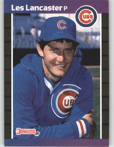 1989 Donruss 341 Les Lancaster Chicago Cubs Baseball Card