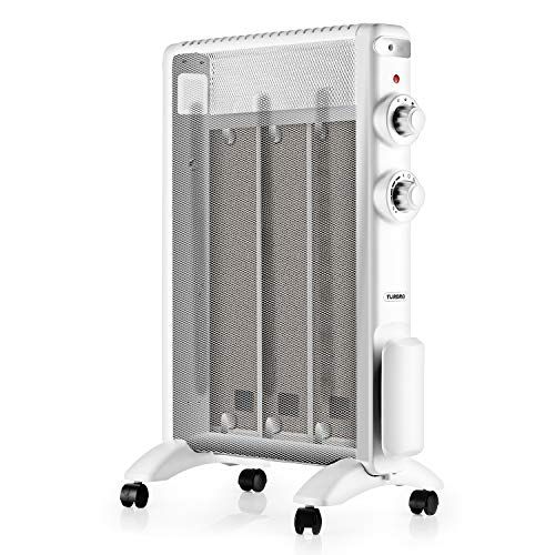 TURBRO Arcade HR1015 Mica Heater 1500W, Micathermic Flat-Panel Heater Electric Space Heater with