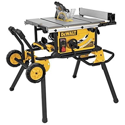 Dewalt dwe7499gd 10 inch jobsite table saw with rolling stand and dewalt dwe7499gd 10 inch jobsite table saw with rolling stand and guard detect greentooth Choice Image