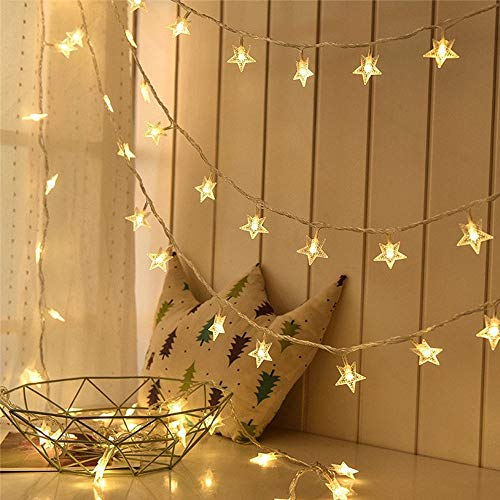 Lyhope Star String Lights, Low Voltage Twinkle Star