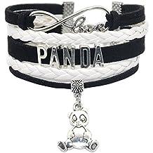 Infinity Panda Bracelet Bear - HHHbeauty Friendship Cute Panda Charm Bracelet For Girls,Women,Men,Boys