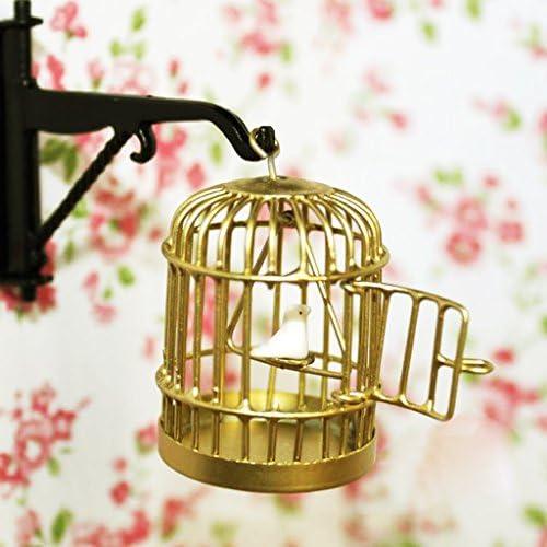 MagiDeal Mini Cage /à Oiseaux En M/étal D/écor pour Maison de Poup/ée en l/Échelle 1:12