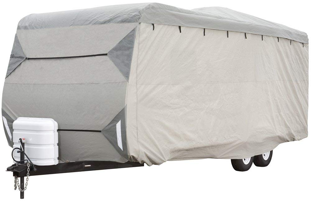 Expedition by Eevelle Travel Trailer Cover Fits 17 to 18 Long Trailers 220 L x 102 W x 104 H