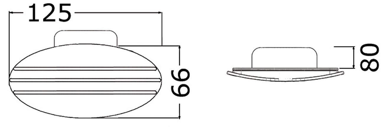 Osculati Kunststoff Einbau Hupe 125 x 66 mm