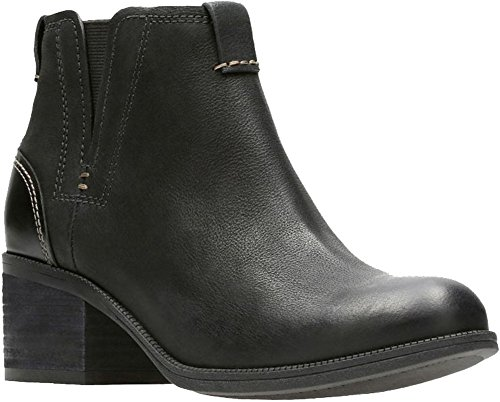Clarks Women's Maypearl Daisy Ankle Bootie, Black, 8 M US (Women Ankle Boots Clarks)