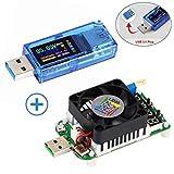 MakerHawk USB 3.0 Tester Multimeter 3.7-30V 0-4A USB Voltage Tester USB Digital Current, Voltage Tester Meter Voltmeter AT34 and USB Load Tester Electronic Load Tester Resistor Module LD35 35W DC4-25V