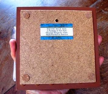 Pacific Blue Tile Original Hand Painted Ceramic Art Tile, 6 x 6 inch – Mission San Juan Capistrano