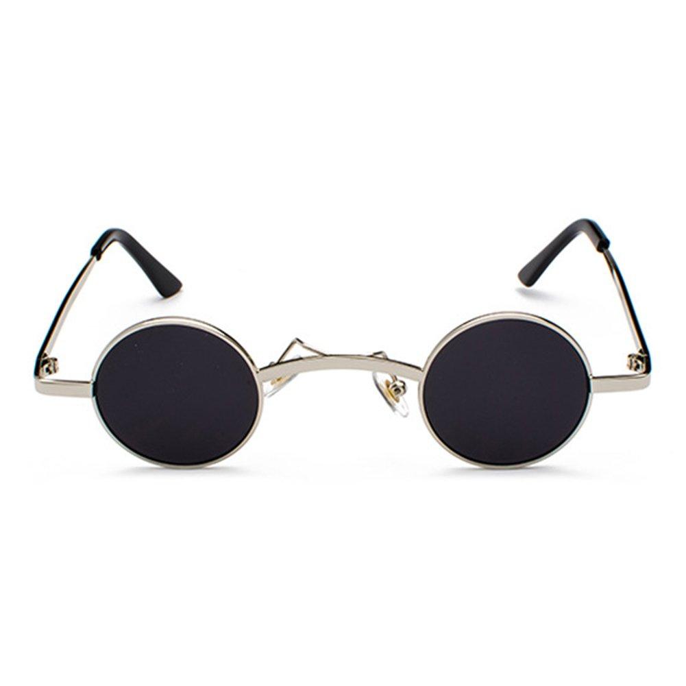 WEIMEITE New Fashion Gothic Steampunk Small Round Occhiali da sole Vintage Retro SunGlasses