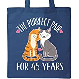 Inktastic - 45th Anniversary Gift Cat Couples Tote Bag Royal Blue