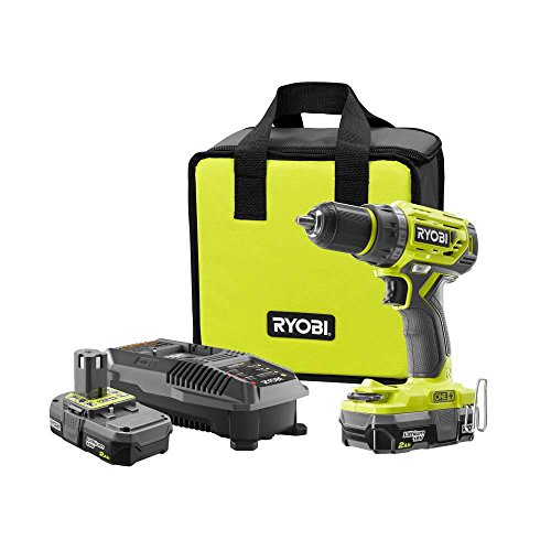 RYOBI 18-Volt ONE+ Brushless Cordless 1/2 in. Drill/Driver with Two (2) 2.0Ah battery, charger and tool bag Kit