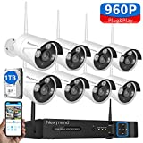 Cheap 8CH Security Camera System Wireless, NexTrend 8CH Home Security Camera System with 8pcs 960P IP Security Camera, 1TB Hard Drive Pre-Installed, No Monthly Fee