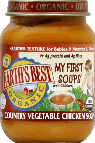Vegetable Chicken Country (Earth's Best Organic Country Vegetable Chicken Junior Soup (12x6oz))