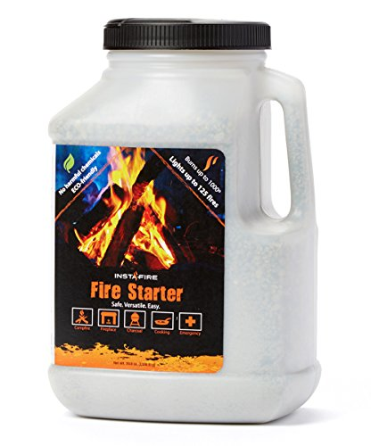 InstaFire 1 Gallon Fire Starter, AWARDED 2017 FIRE STARTER OF THE YEAR - Eco-Friendly, No Harmful Chemicals, Burns up to 1000º for over 10 min. in virtually any condition, lights up to 125 total fires by Instafire