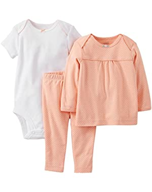Baby Girls' 3 Piece Layette Set (Baby) - Coral
