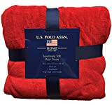 U.S. Polo Association Luxury Ultra Soft Plush Throw Blanket