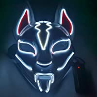 Sky Fox Luminous LED Fox Luminous Mask Halloween Fortress Night Cold Light Mask