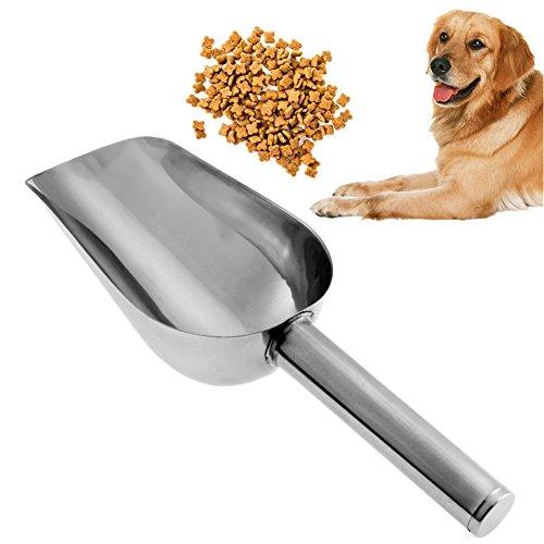 PyLios(TM) 1PC Stainless Steel Pet Feed Food Supplies Puppy Feeding Dog Food Scoop Shovel Pet Dog Feeding Acessorios