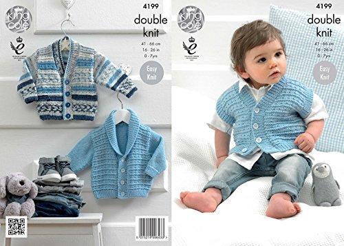 King Cole Baby Jackets & Waistcoat Cherish Knitting Pattern 4199 DK by King Cole by King Cole