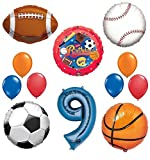 Best Ultimate Sports - The Ultimate Sports Theme 9th Birthday Party Supplies Review