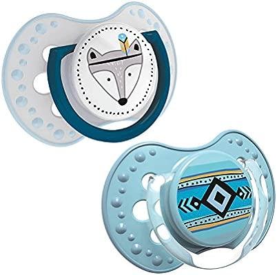 LOVI 2x Chupete Silicona para Bebés de 0-3 meses | Cubierta Higiénica | Efecto Calmante | Protege el Reflejo Natural de Succión de Bebé | Indian ...