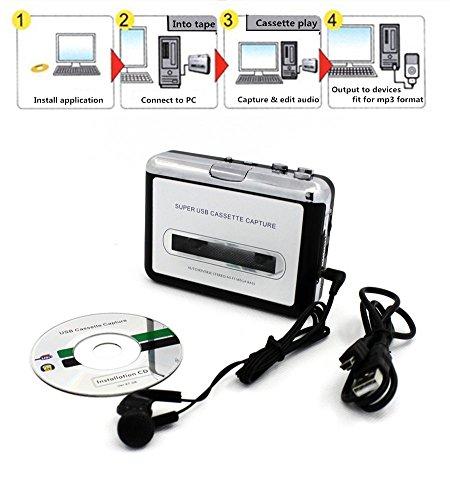 Arrela Usb Portable Cassette To Mp3 Converter Tape To Mp3