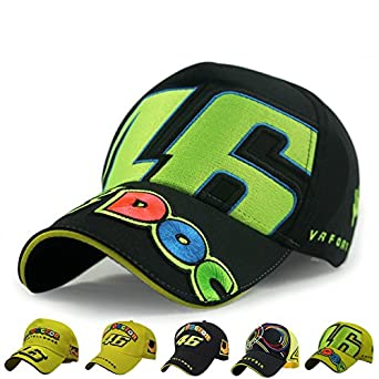33f807a58 Men's Cotton Sports The Doctor Rossi VR 46 Caps (Yellow): Amazon.in ...