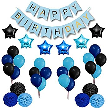 Amazon.com: Royal Blue Happy Birthday Party Decorations