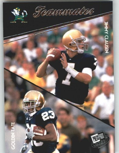 Jimmy Clausen - Golden Tate - Notre Dame (Teammates)(Rookie Year Card) 2010 Press Pass NFL Draft ()