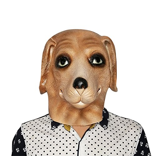 For Costume Dogs Hyena (Dog Mask Latex, Realistic Cute Halloween Animal Costume Cosplay Headgear)